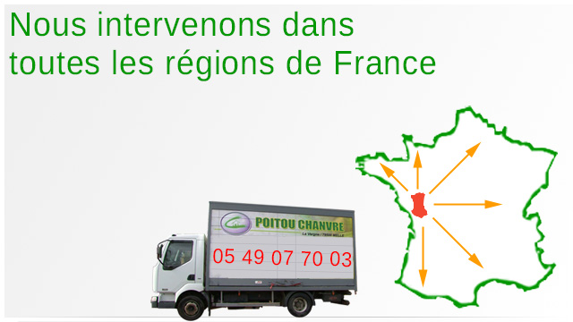 Nous intervenons dans toutes les région de France