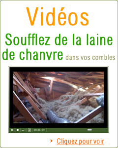 Capture video soufflage laine de chanvre