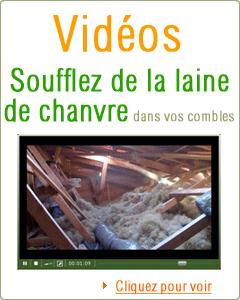 Capture video soufflage laine de chanvre