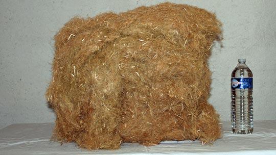 Balle de laine de chanvre