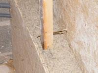 Coffrage pour banchage chaux chanvre