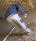 Isolation thermique du sol au béton de chanvre