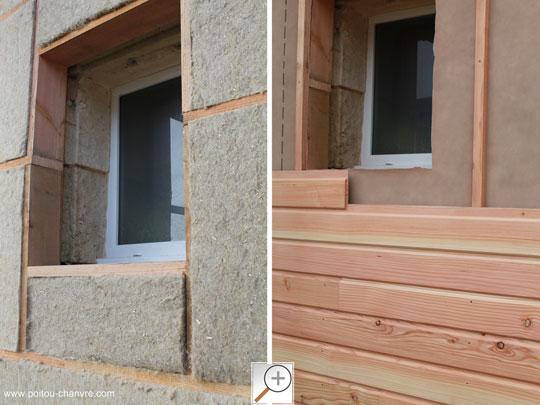 Bardage bois sur isolation extérieure