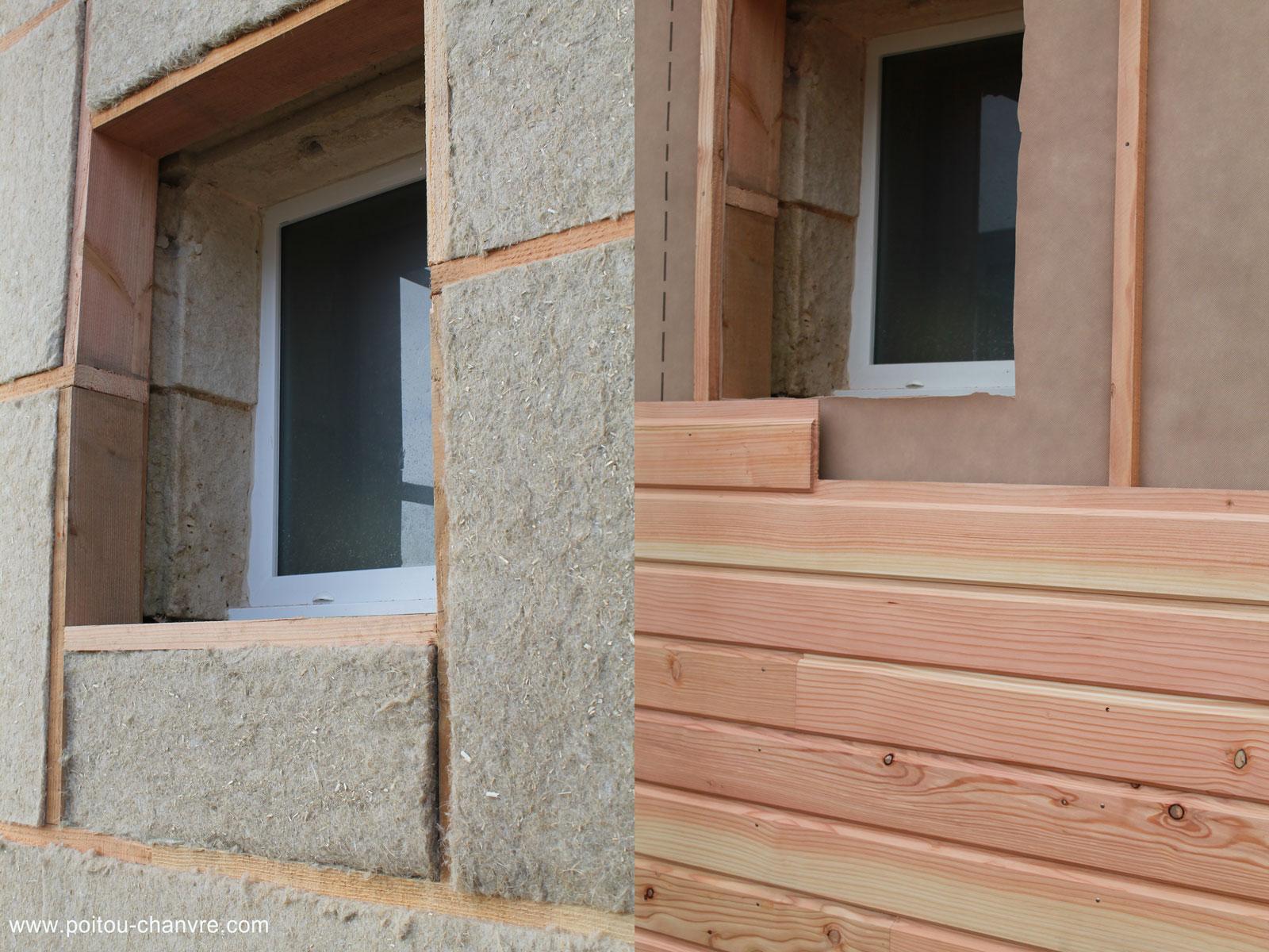 lame de bois finition pour isolation au chanvre. Black Bedroom Furniture Sets. Home Design Ideas